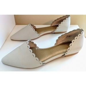 Seychelles Research Leather Scalloped Edge Flats